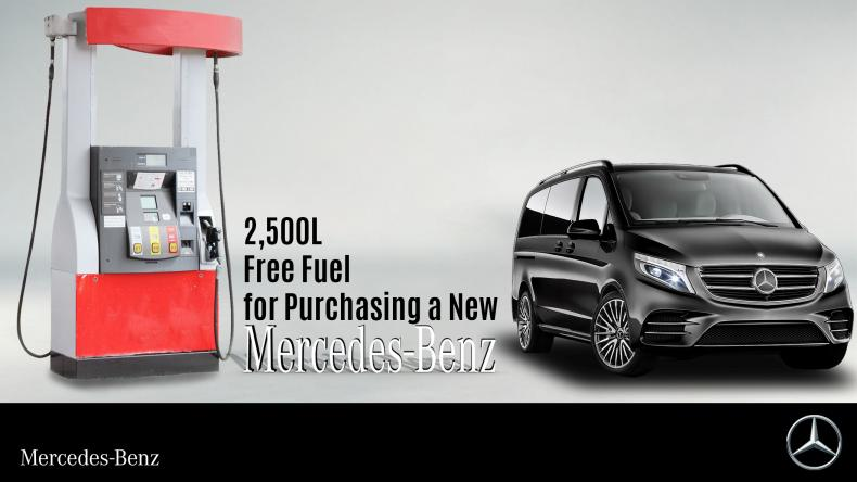 2,500L Free Fuel for Purchasing a New Mercedes-Benz