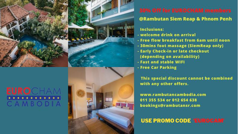 30% Discount on all Rambutan Hotel & Resorts Room Rates for EUROCHAM Cambodia Members