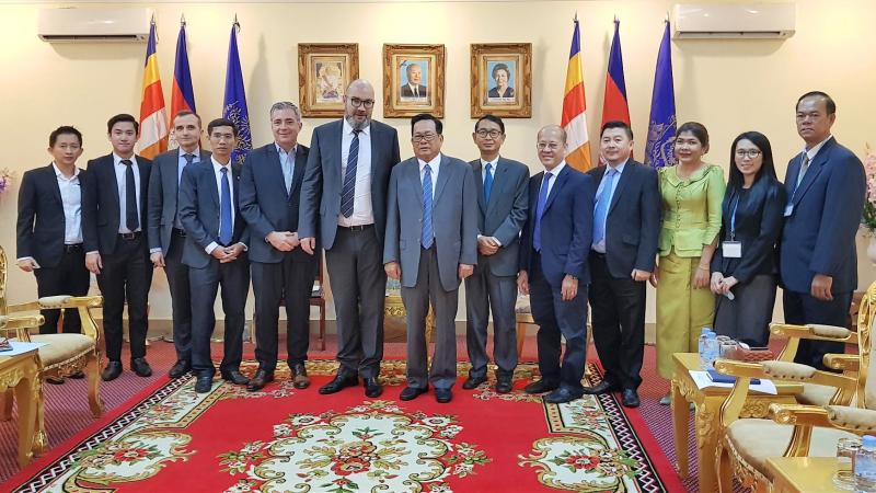 MEETING WITH HIS EXCELLENCY DR ITH SAM HENG, MINISTER OF LABOUR AND VOCATIONAL TRAINING