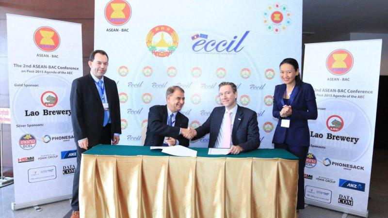 MoU with the European Chamber of Commerce and Industry in Lao PDR