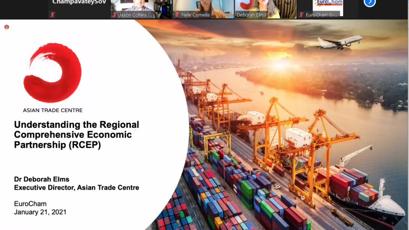 Webinar on Regional Comprehensive Economic Partnership (RCEP)