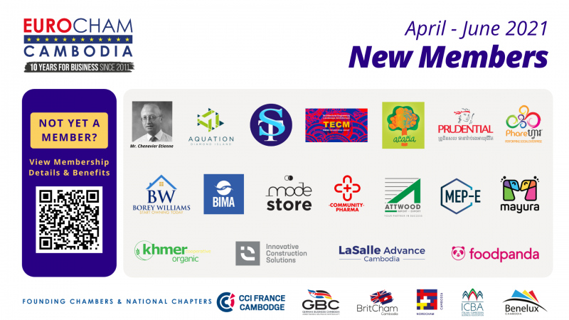 Join us to welcome 18 newest members of EuroCham