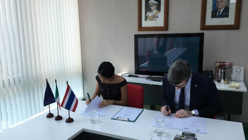 MoU with the Thai-Italian Chamber of Commerce