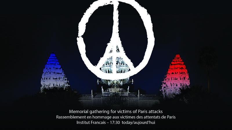 Memorial gathering for victims of Paris attacks