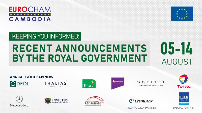 05 - 14 AUGUST | KEEPING YOU INFORMED: RECENT ANNOUNCEMENTS BY THE ROYAL GOVERNMENT