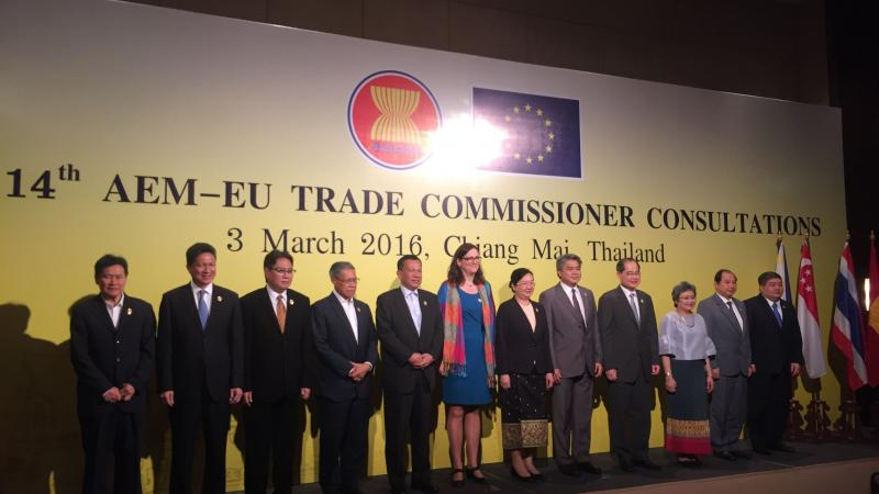 The 14th AEM - EU Trade Commissioner Consultations in Chiang Mai, Thailand