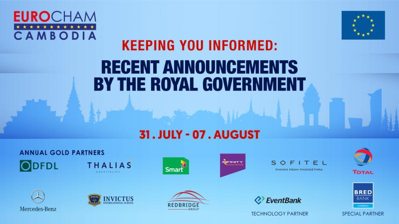 31 JULY - 07 August | KEEPING YOU INFORMED: RECENT ANNOUNCEMENTS BY THE ROYAL GOVERNMENT