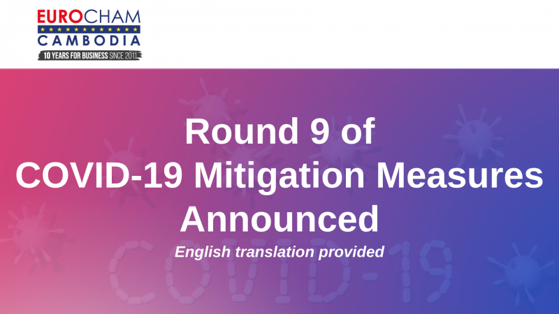 ROUND 9 OF COVID-19 MITIGATION MEASURES ANNOUNCED – ENGLISH TRANSLATION PROVIDED