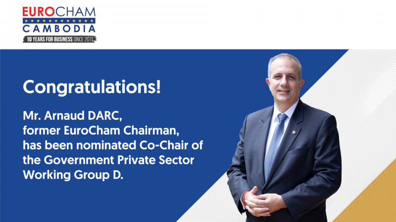 Former EuroCham Chairman nominated co-chair of GPS Working Group D