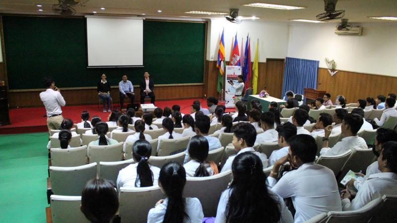 Career Talk at the Royal University of Agriculture