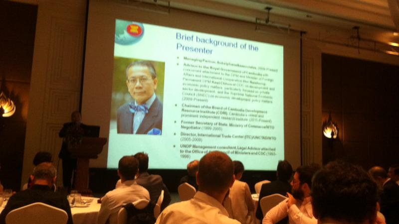 Luncheon with H.E. Dr. Sok Siphana