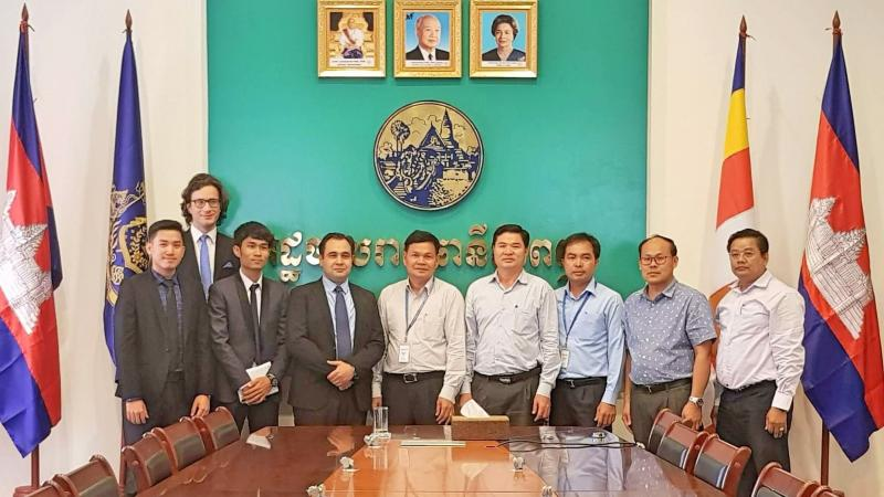 Meeting the Urbanization Division of the Phnom Penh City Hall