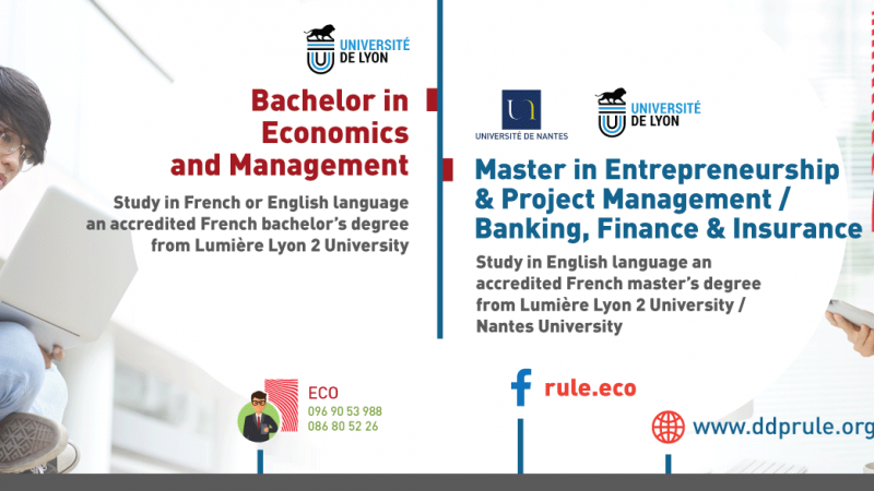 New intake 2021-2022 for RULE's international programs in economics and management