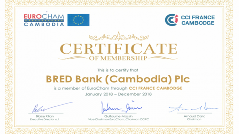 EuroCham Membership Certificates are Ready