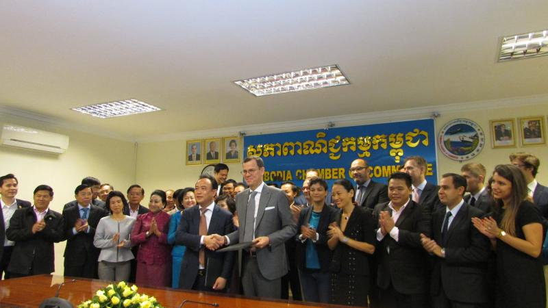MoU with the Cambodia Chamber of Commerce