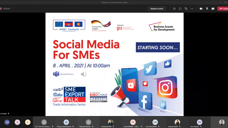 Webinar on Social Media for SMEs