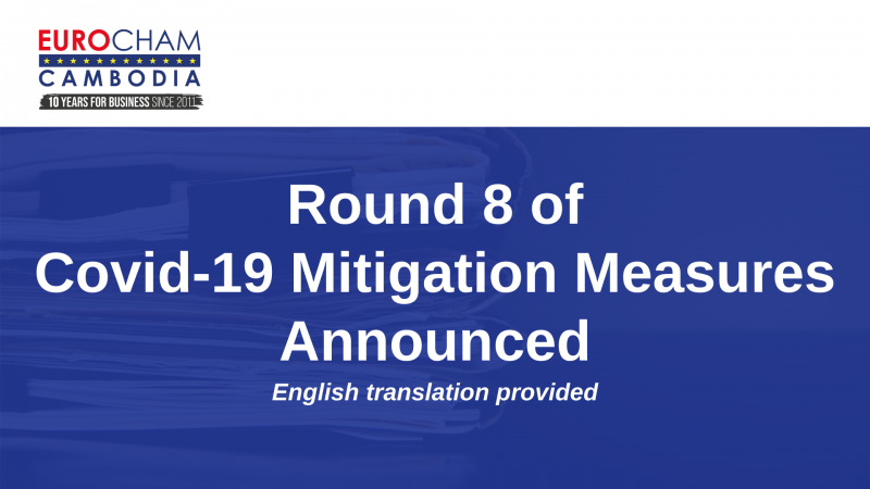 ROUND 8 OF COVID-19 MITIGATION MEASURES ANNOUNCED – ENGLISH TRANSLATION PROVIDED
