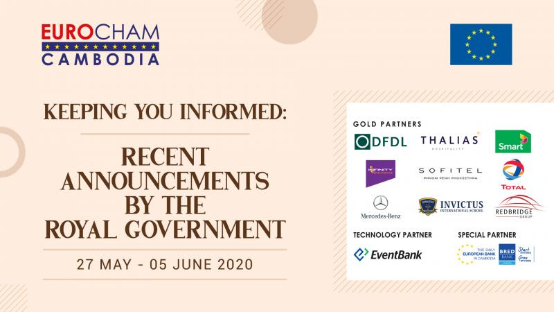 27 MAY - 05 JUNE | KEEPING YOU INFORMED: RECENT ANNOUNCEMENTS BY THE ROYAL GOVERNMENT